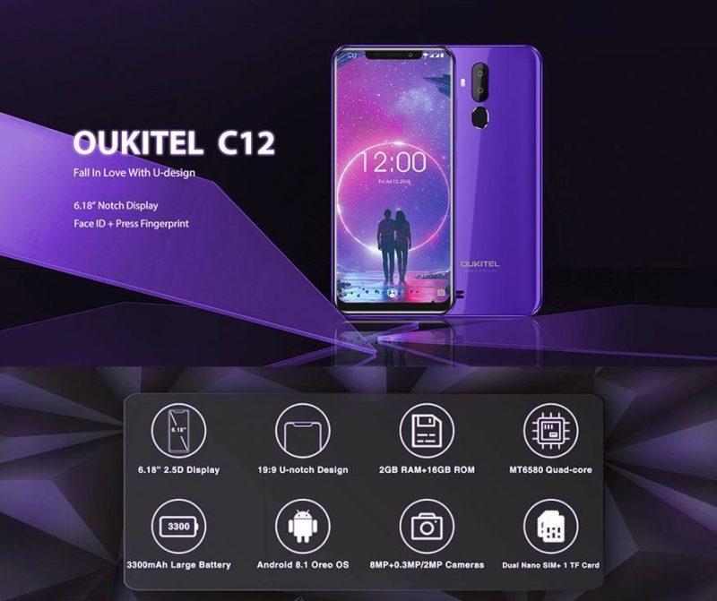 Бюджетный смартфон OUKITEL C12, обзор и описание