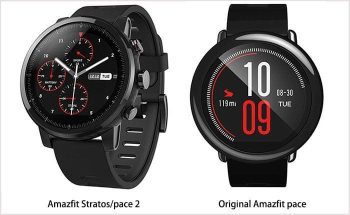 Обзор сравнение умных часов Xiaomi Amazfit Stratos и Amazfit Pace