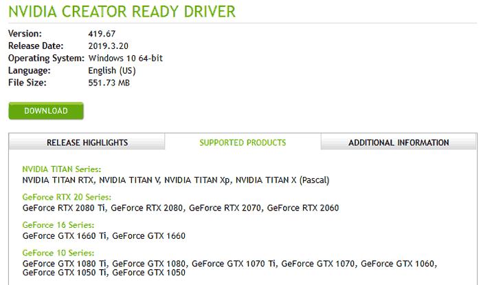 Nvidia выпускает свои первые готовые драйверы Creator, удивляемся и наблюдаем