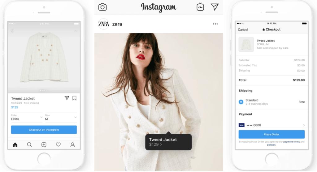Instagram вводит функционал покупки товара, прямая конкуренция интернет магазинам