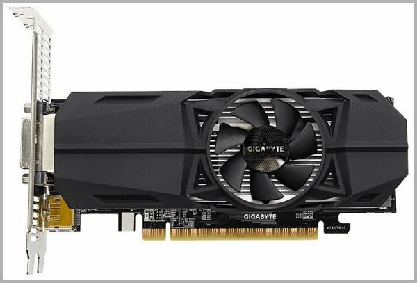Видеокарта GIGABYTE GeForce GTX 1050 1392MHz PCI-E 3.0 2048MB 7008MHz 128 bit DVI 2xHDMI HDCP OC Low Profile, обзор, характеристики, отзывы