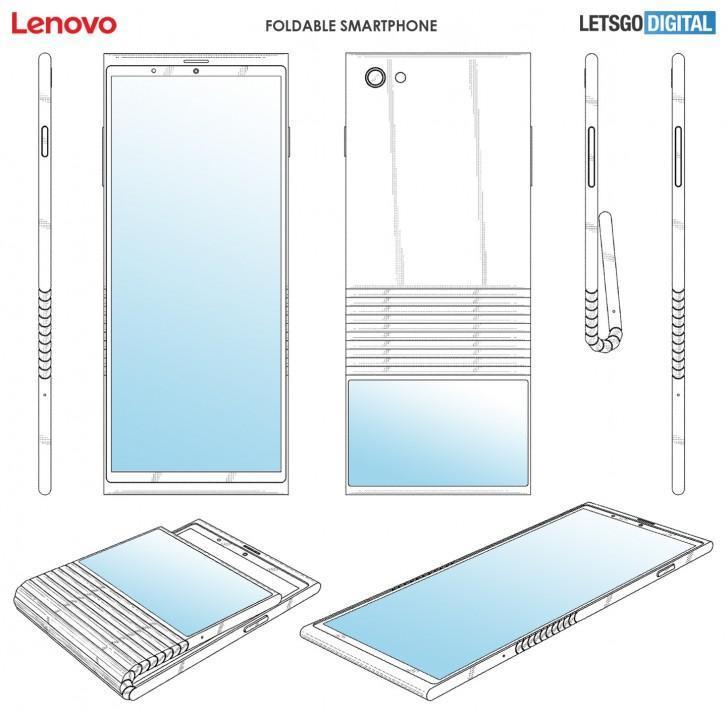 Lenovo запатентовал вертикально складывающийся телефон смартфон
