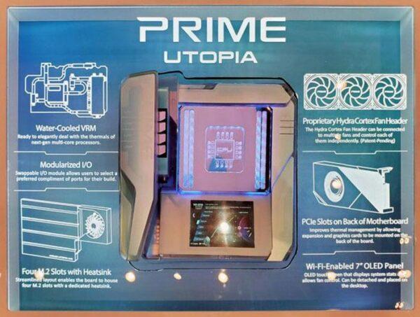 Asus демонстрирует концепцию материнской платы Prime Utopia