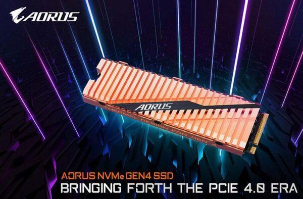 Gigabyte Aorus NVMe Gen4 SSD с медным радиатором работает с 5 гб скорости