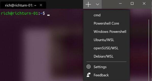 Microsoft анонсирует приложение командной строки Windows Terminal