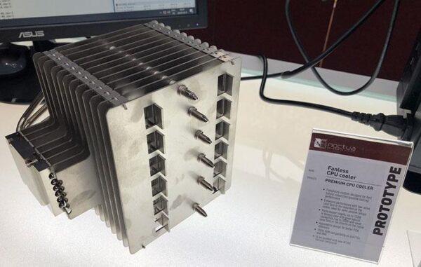 Прототип пассивного кулера Noctua может выдержать 120 Вт в безвентиляторном корпусе