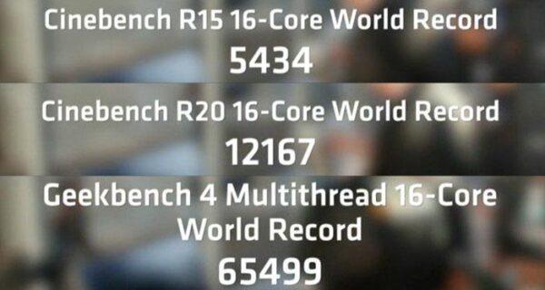 AMD Ryzen 9 3950X установил три мировых рекорда