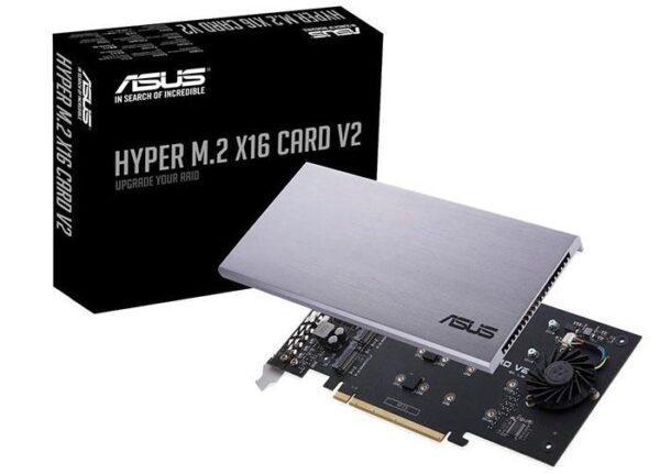 Asus обновляет карту Hyper M.2 x16 V2 NVMe RAID