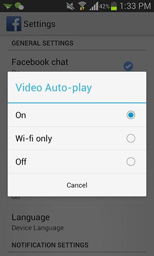 Как отключить автозапуск видео Facebook на Android и iOS