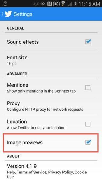 Как отключить предварительный просмотр изображений в Twitter для iOS, Android и OS X