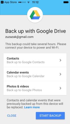 Как перейти с iOS на Android с помощью Google Drive Backup