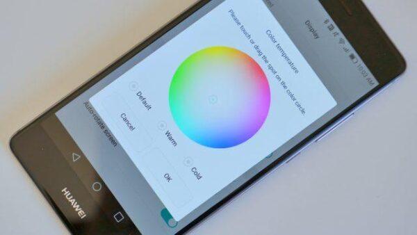 huawe-P9-дисплей цвета