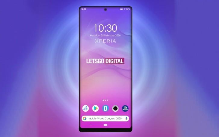 Предстоящий телефон Sony Xperia может поставляться с перфорированным дисплеем