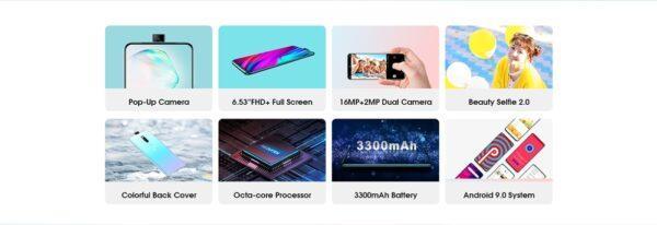 Elephone PX, стильный смартфон с всплывающей камерой по бюджетной цене