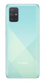 Samsung Galaxy A71 в голубом