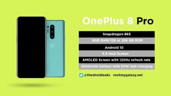OnePlus 8 Pro: новые рендеры, характеристики и дисплей 120 Гц